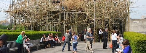 Une jungle de bambous sur le toit du Met