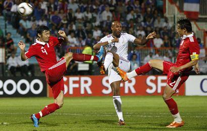 Nicolas Anelka et les Bleus ont chuté contre la Chine