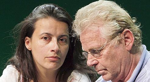 Cécile Duflot et Daniel Cohn-Bendit lors de la convention nationale d'Europe Écologie, samedi à Paris.