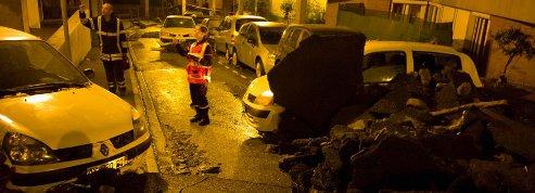 Coulée de boue spectaculaire <br>dans le Rhône