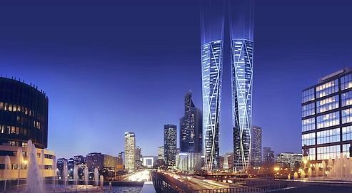 Les twin towers conçues par l'architecte-star Norman Foster grimperont à 323m. Ce seront les premiers IGH (immeubles de grande hauteur) mixtes en France mêlant logements, bureaux et commerces.