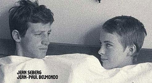 À bout de souffle, première réalisation de Jean-Luc Godard, avec Jean-Paul Belmondo et Jean Seberg.