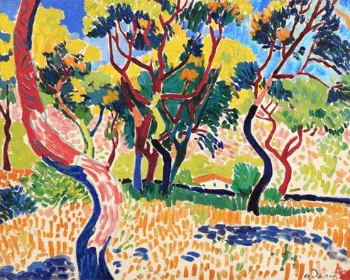 Arbres à Collioure (1905), d'André Derain, qui sera vendu à Londres mardi soir, est estimé entre 10 et 15 millions d'euros. (DR)