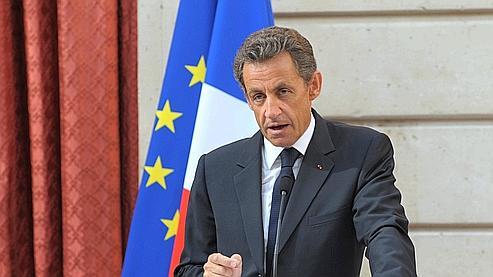 Nicolas Sarkozy au palais de l'Elysée, le 24 juin 2010. Crédits  photo: AFP