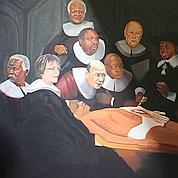 Un tableau de Mandela mort scandalise