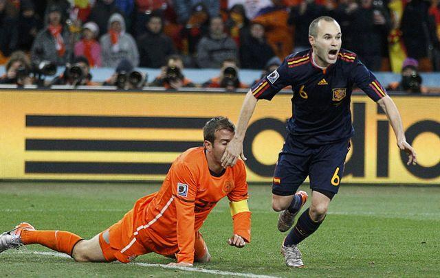 Andres Iniesta a inscrit le but victorieux pour l'Espagne