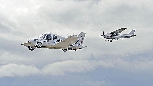 La voiture volante Transition avait effectué en mars 2009 ses premiers vols. (Crédits photo : Terrafugia)