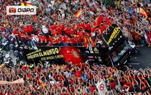 Madrid a fêté ses héros