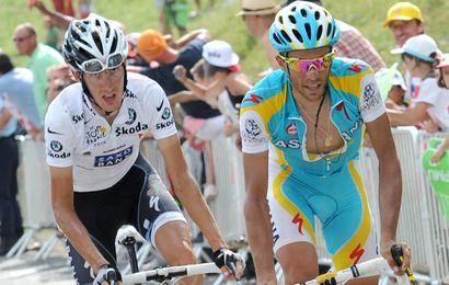 Andy Schleck prend la tête du général devant Alberto Contador