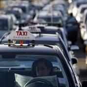 Les taxis parisiens manifestent à Roissy