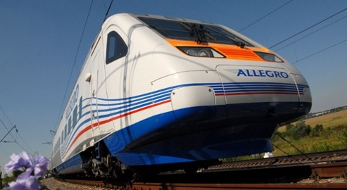 Le train pendulaire « Allegro ».
