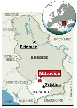 20.000 Serbes vivent dans l'enclave de Mitrovica au Kosovo.