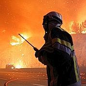 Incendie aux environs de l'étang de Berre