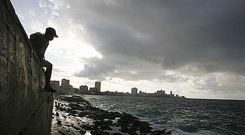 Vue de la baie de La Havane en novembre 2006.