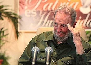 Fidel Castro, le dirigeant communiste cubain, lors de la cérémonie en hommage au héros national José Marti, lundi dernier, à La Havane.