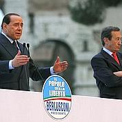 Berlusconi menace, Fini compose