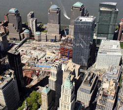 Vue aérienne du lieu où le complexe sera construit. (crédits photo Mark Lennihan/AP)
