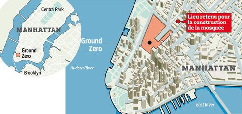 Le complexe islamique devrait se situer au 45 Park Place, à côté de Ground Zero.