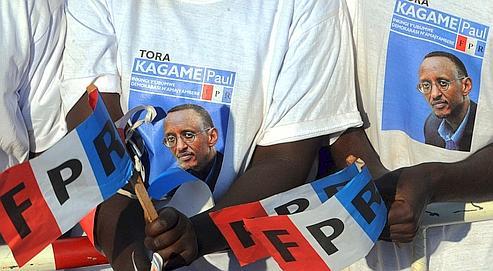 Partisans de Paul Kagame à Gasavo Vumbungo , le 7 août.