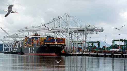 Port d'Oakland, aux Etats-Unis.