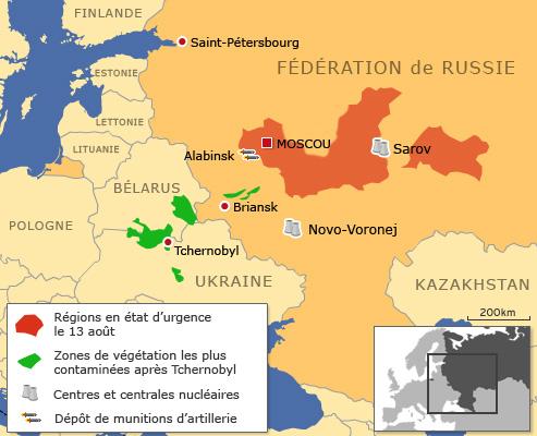 La situation s'est de nouveau  dégradée dans la région de Sarov, qui abrite un important complexe  nucléaire, évacué la semaine dernière en urgence de tous ses matériaux  radioactifs.