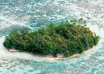 Motu Moute. Une île de rêve avec vue sur Bora Bora. Le bungalow polynésien, qui constitue l'habitation principale, ne compte qu'une seule chambre. Tranquilité garantie !