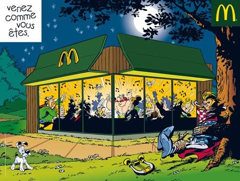 Publicidade do Asterix comendo no McDonald's causa indignação em França