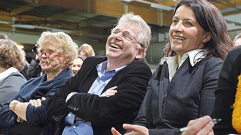 De gauche à droite : Eva Joly, Daniel Cohn-Bendit et Cécile Duflot.
