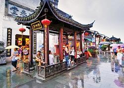 Rue piétonne de Hangzhou.