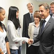 Sarkozy inaugure un «internat d'excellence»
