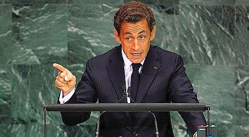 Nicolas Sarkozy au sommet sur les Objectifs du millénaire sur le développement (OMD), lundi à New York.