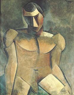 Homme nu assis (1908/1909), de Pablo Picasso. (Crédits photo: P. Bernard /Sucession Picasso, 2010)