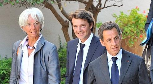 Le budget de l'État est présenté mercredi en conseil des ministres par François Baroin et Christine Lagarde, ici avec Nicolas Sarkozy.