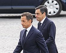 Nicolas Sarkozy et François Fillon le 14 juillet dernier.