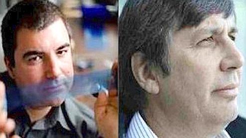 Les deux prix Nobel de physique 2010, Novoselov à gauche, et Geim à droite.