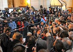 Jérôme Kerviel face à la presse.