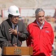 Sebastian Pinera et Evo Morales