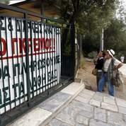 L'Acropole bloquée par des fonctionnaires