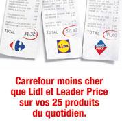 Carrefour converti à la publicité comparative