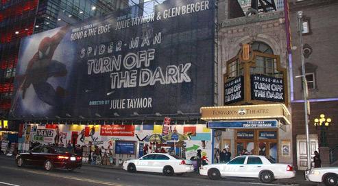 La comédie musicale Spider-Man : Turn off the Dark, à laquelle Bono et The Edge du groupe U2 ont collaboré, devait se jouer au Théâtre Foxwoods, à New York. (Crédits photo: Joseph Marzullo/Wenn.com/Sipa)