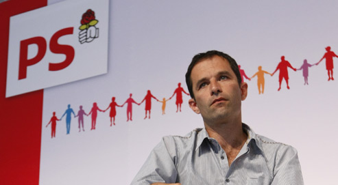 Le porte-parole du Parti socialiste, Benoît Hamon, lors de l'université d'été du PS à La Rochelle. (Crédits photo: Sébastien Soriano/Le Figaro)