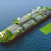 Un navire usine à gaz au large de l'Australie