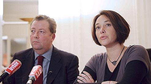 Olivier Morice, avocat des familles, et Sandrine Leclerc, fille d'une victime.