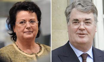 Christine Boutin ( à gauche) et Jean-Paul Delevoye. (Crédits photo : AFP)