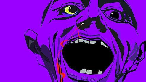 Le dessin «Purple Haze/Purple Death» de Guillaume Hamon, lauréat dans la catégorie image.