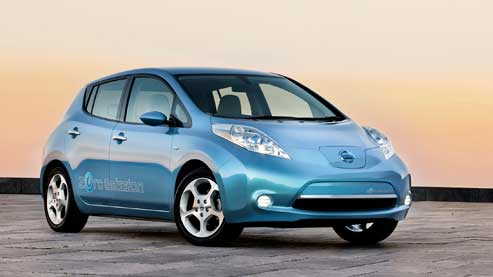 Photo de la voiture de l'année la Nissan Leaf