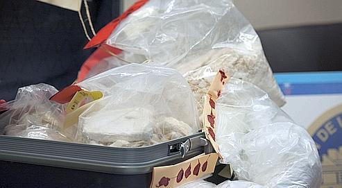 Une partie de la saisie record de 110 kilos de cocaïne, le 27 novembre dernier à Neuilly-sue-Seine.