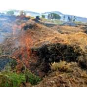 Un incendie souterrain menace un village