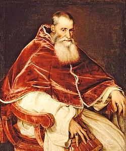 « Portrait du pape Paul III Farnèse » par le Titien.