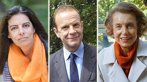 Françoise Bettencourt-Meyers, François-Xavier Banier et Liliane Bettencourt. Crédits photo: AFP.